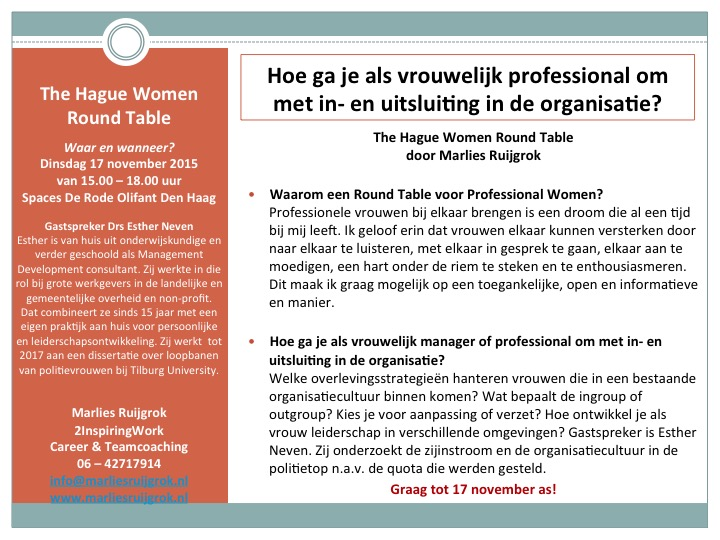 The Hague Women Round Table november 2015